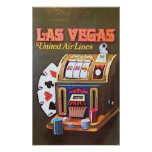 Las Vegas (líneas de aire unidas) Poster