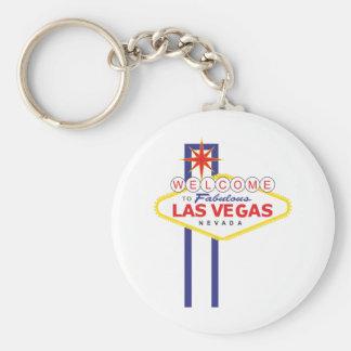 Las Vegas Llavero Redondo Tipo Pin