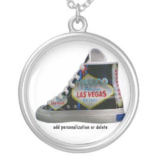Las Vegas Logo Round Pendant Necklace