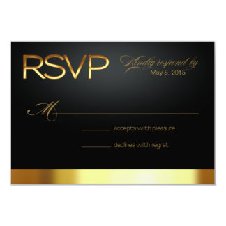 Las Vegas Lucky in Love RSVP gold/black Card