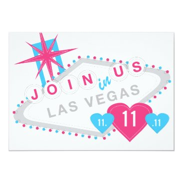 Valentines Themed Las Vegas Lucky in Love Sate the Date Card