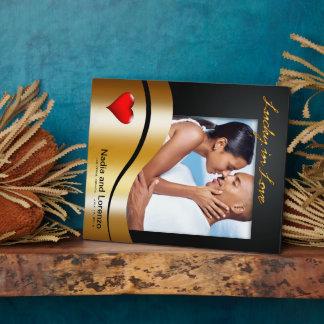 Las Vegas Lucky in Love Wedding Photo Plaque