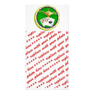 Las Vegas Magic Lamp Poker Chip Photo Cards