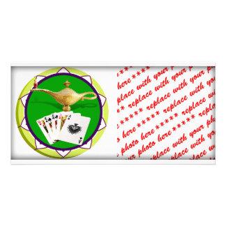 Las Vegas Magic Lamp Poker Chip Customized Photo Card