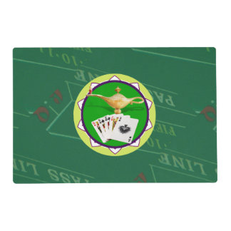 Las Vegas Magic Lamp Poker Chip Placemat