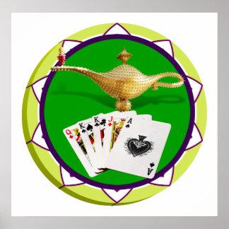 Las Vegas Magic Lamp Poker Chip Poster