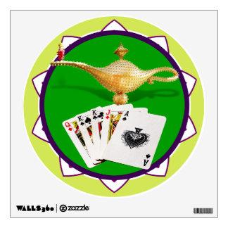 Las Vegas Magic Lamp Poker Chip Wall Sticker