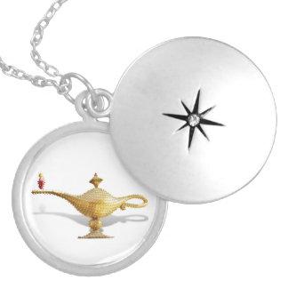 Las Vegas Magic Lamp Round Locket Necklace