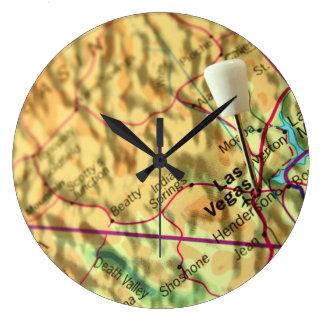 Las Vegas Map Clock