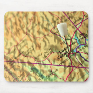 Las Vegas Map Mouse Pad