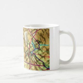 Las Vegas Map Classic White Coffee Mug