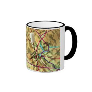 Las Vegas Map Ringer Coffee Mug