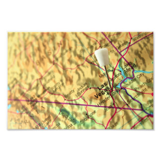 Las Vegas Map Photo Print