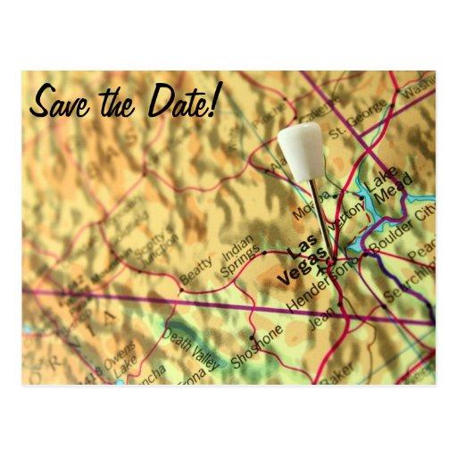 Las Vegas Map Postcard
