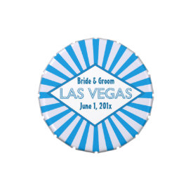 Las Vegas Marquee Blue Candy Tins at Zazzle