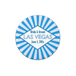 Las Vegas Marquee Blue Candy Tins