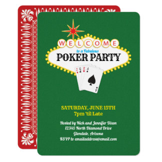 Las Vegas Marquee Sign Poker Party Green Card