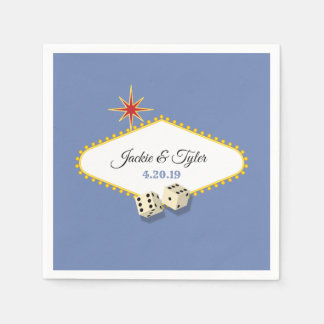 Las Vegas Marquee Wedding in Hydrangea Paper Napkin