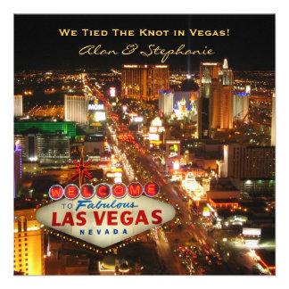 Las Vegas Marriage Announcement Cards