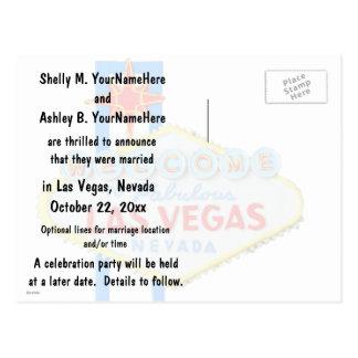 Las Vegas Marriage Announcement Postcard