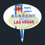 "Las Vegas Marriage Celebration Cake Topper<br><div class=""desc"">A fun cake topper for couples who eloped to Las Vegas Nevada for their wedding.</div>"