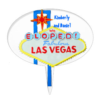 Las Vegas Marriage Celebration Cake Topper