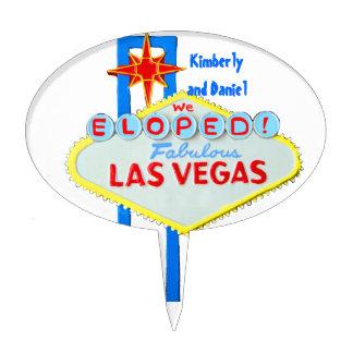 Las Vegas Marriage Celebration Cake Topper