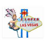 Las Vegas Marriage Elope Announcement Postcard