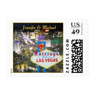 Las Vegas Married Announce Postage Stamp