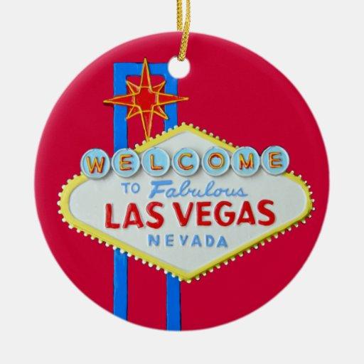 Las Vegas Merry Christmas Christmas Ornaments