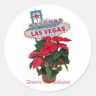Las Vegas Merry Christmas / Poinsettias Stickers