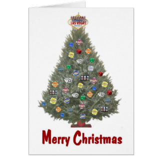 Las Vegas Merry Christmas Tree Card