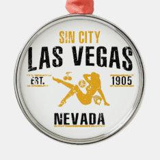 Las Vegas Metal Ornament at Zazzle