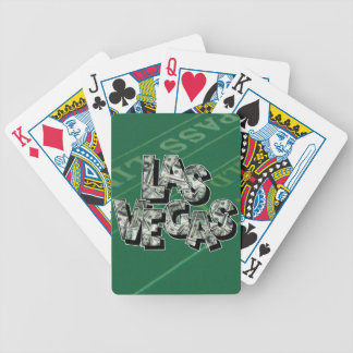 Las Vegas Money Text Design Bicycle Playing Cards