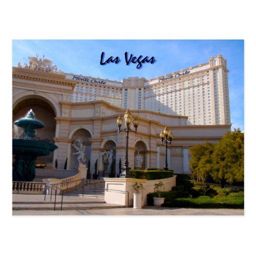 Las Vegas Monte Carlo Tarjeta Postal