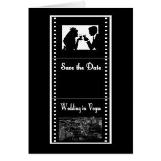 Las Vegas Movie Film Save the Date Card Strip