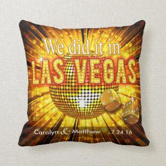 Las Vegas Mr. & Mrs. Wedding Keepsake Throw Pillow