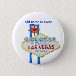 Las Vegas Name Badge Button