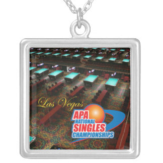 Las Vegas National Singles Championships Square Pendant Necklace