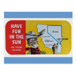 Las Vegas Navada Vintage Travel Design Postcard