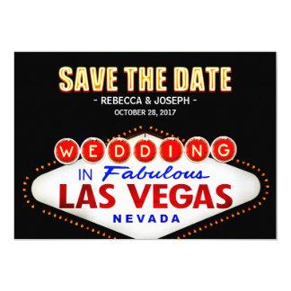 Las Vegas Neon Sign - Save the Date Wedding Card