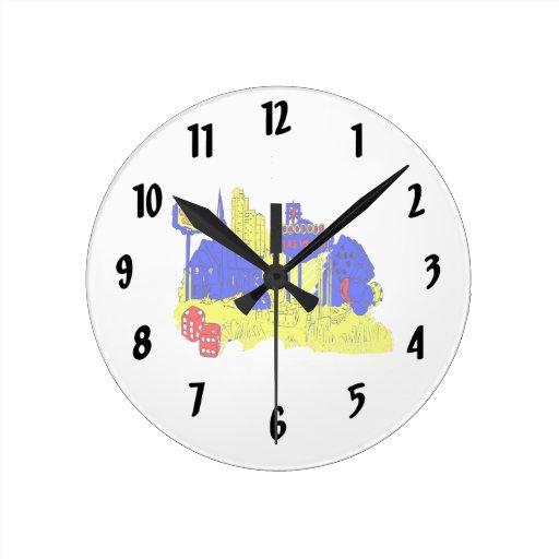 las vegas nevada 4 no txt city graphic.png round wall clock