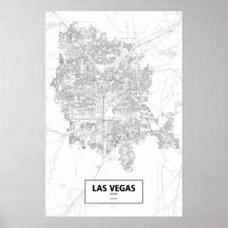 Las Vegas, Nevada (black on white) Poster