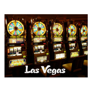 Las Vegas, Nevada Casino Slot Machines Postcard