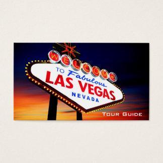 Las Vegas Nevada Casino Tour Guide Travel Agent Business Card