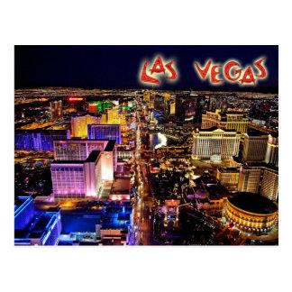 Las Vegas, Nevada en la noche - visión aérea Postales