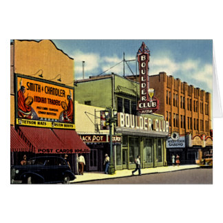 Las Vegas, Nevada Fremont Street 1930 Card