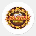 Las Vegas, Nevada - golpee el bote Etiquetas Redondas