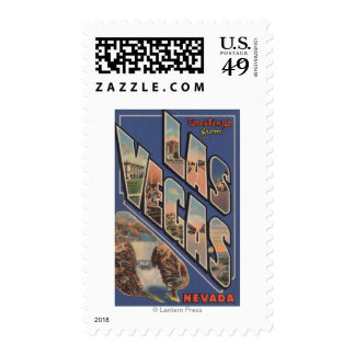 Las Vegas, Nevada - Large Letter Scenes 2 Stamps