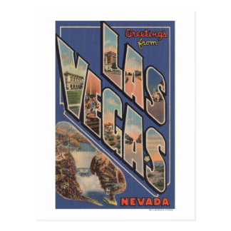 Las Vegas, Nevada - Large Letter Scenes 2 Post Cards